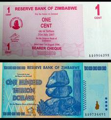 Faux billet de banque du Zimbabwe - Ig Nobel